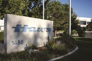 The Haws corporation sign in front of their headquarters in Reno, Nevada