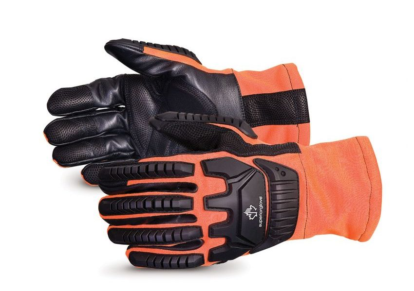 Clutch Gear® Hi-Viz Flame-Resistant Arc-Flash Anti-Impact Mechanics Gloves