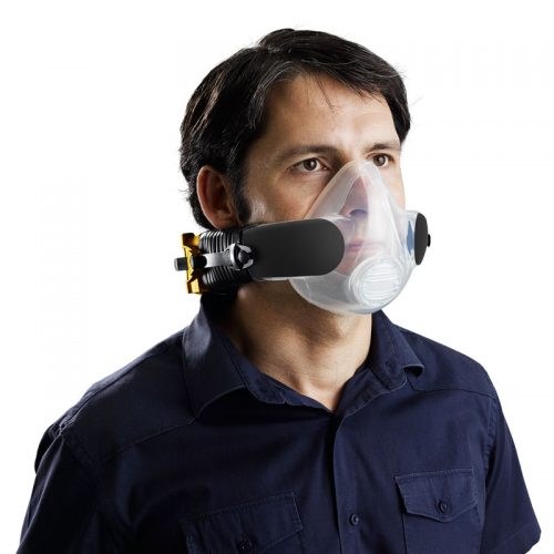 Man wearing cleanspace PAPR