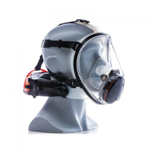 mannequin wearing cleanspace ultra with full face piece