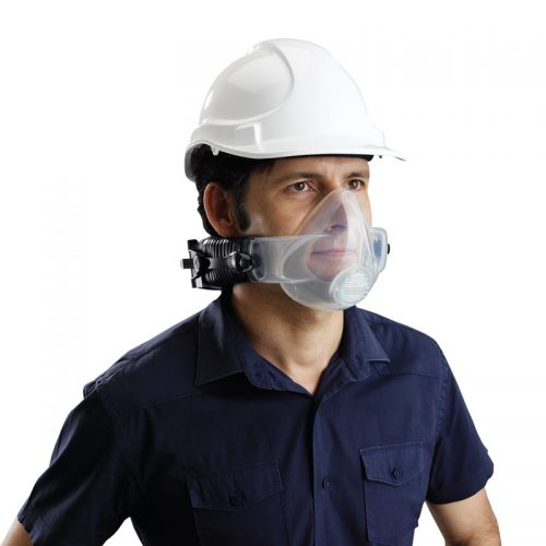 man wearing hardhat and cleanspace2 papr