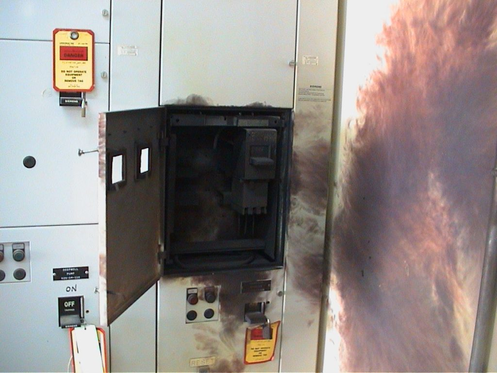 Arc flash explosion