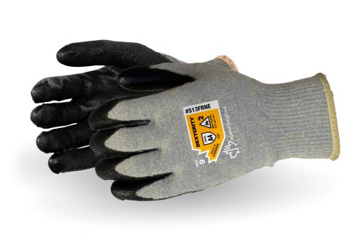 Superior Glove Dexterity® 13-Gauge Flame-Resistant Arc Flash Gloves with Neoprene Palm