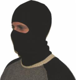 man wearing white balaclava