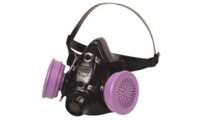 man wearing honeywell respirator