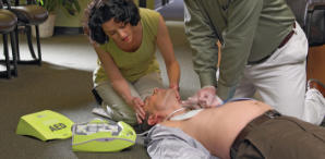 using an aed for cardiac arrest at work