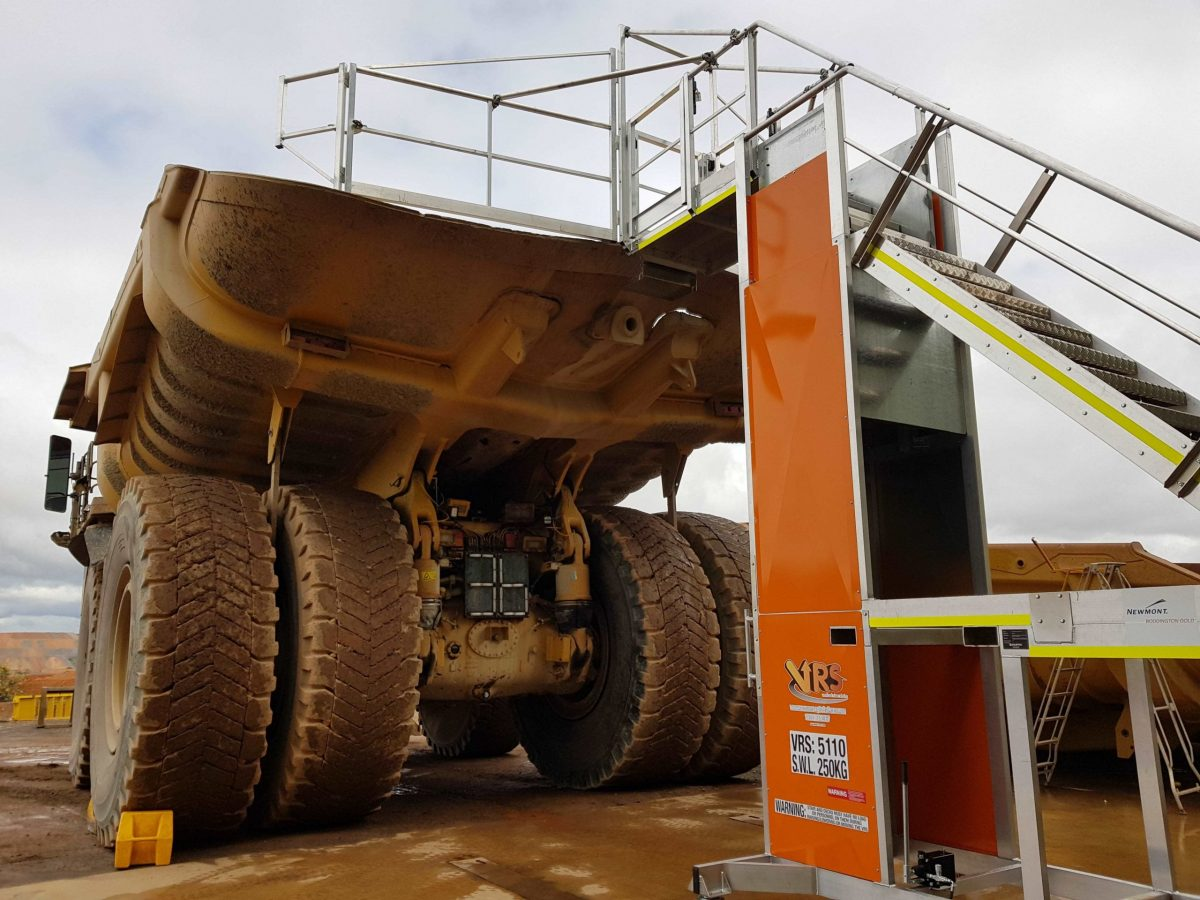 VRS giraffe being used to service a mining truck