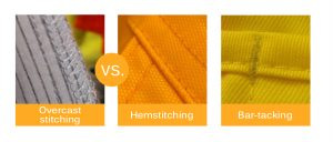 Types of rainwear stitching