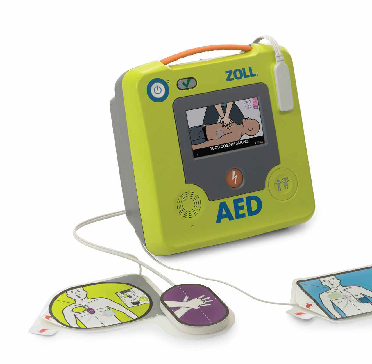 Zoll AED3 automated external defibulator with pads