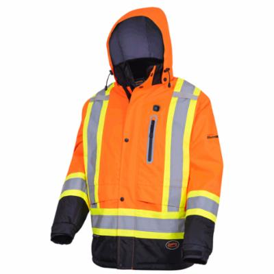 pioneer 5407 hi-viz orange heated insulated safety jacket