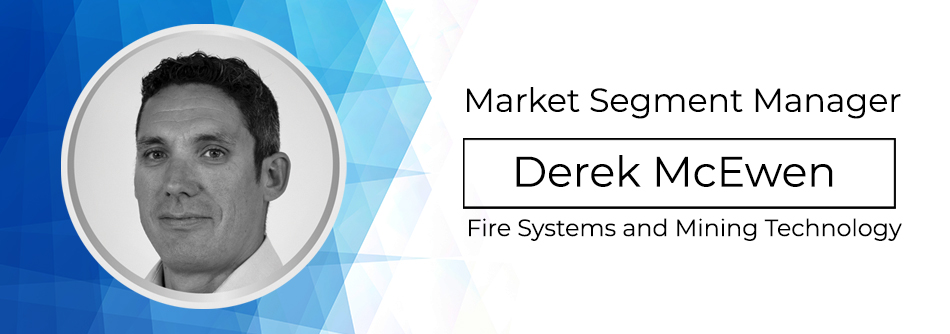 Market segment manager Derek McEwan Fire systems and mining technology with headshot