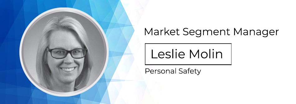 market segment manager leslie molin personal safety with headshot