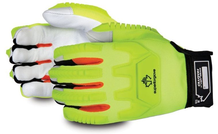 Clutch Gear Mechanics Winter Impact-Resistant Glove Hi-viz Gloves With Goat-Grain Palms