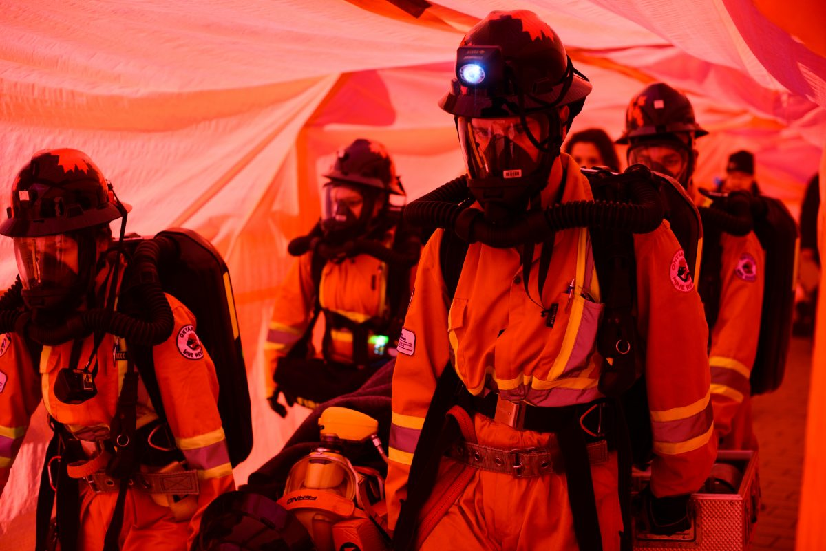 underground mine resuce competition rescuing victim from a mine