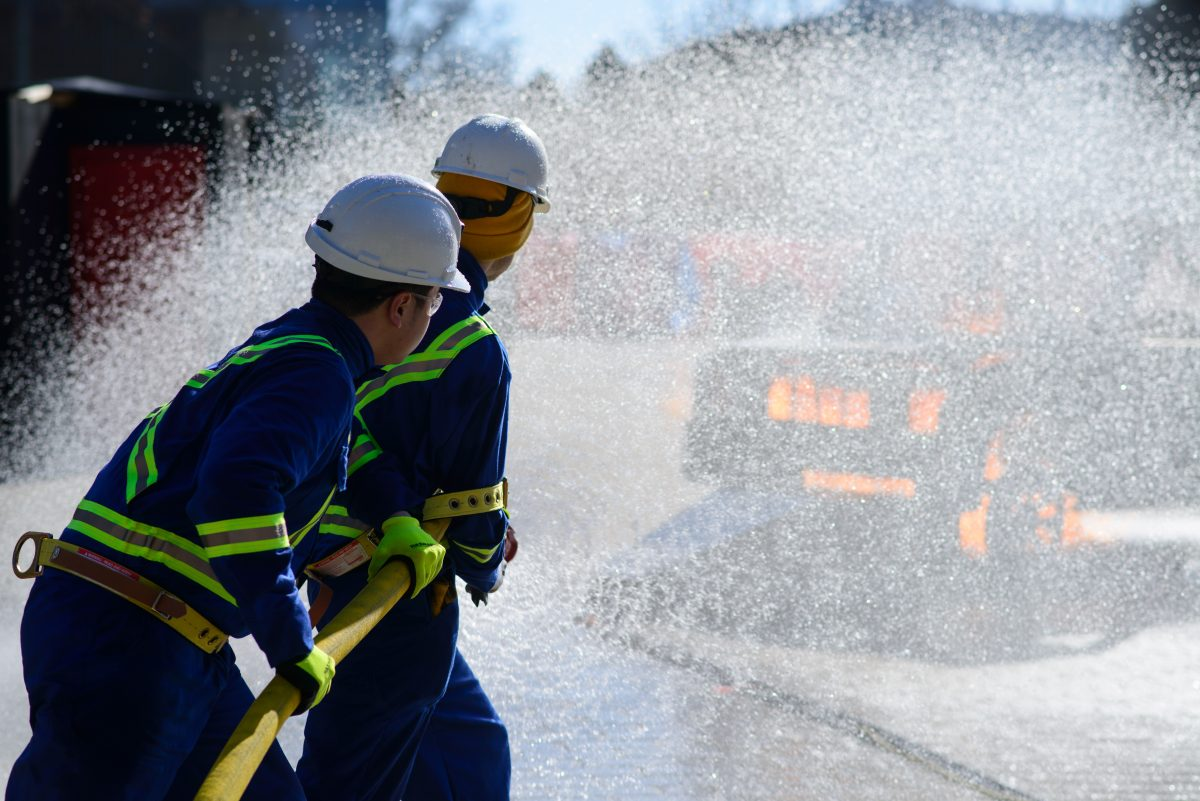 student mine rescue competition firefighting skills test