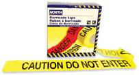 product image of barricade black on yellow caution do not enter tape