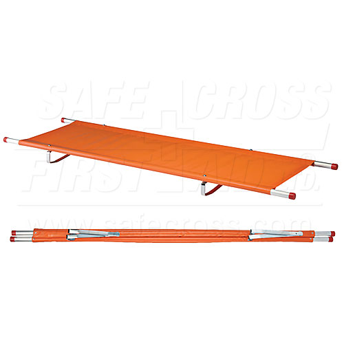 product image of single fold stretcher with aluminum poles