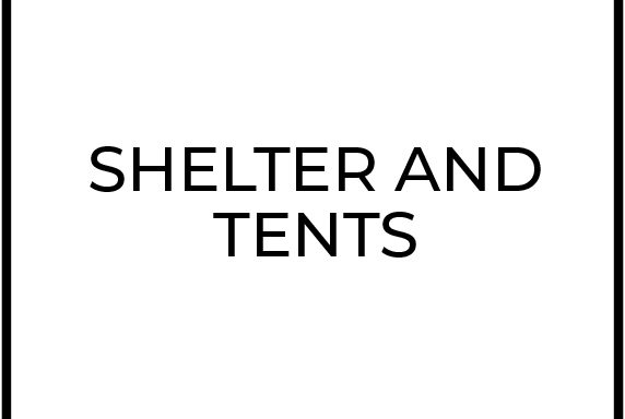 Shelters and Tents