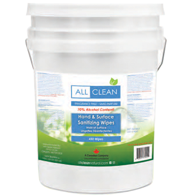 All Clean Natural Sanitizing Wipes, 450 Count
