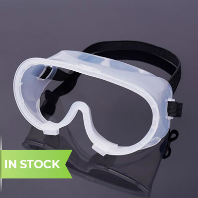Medical goggles in stock banner