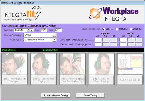 IntegraFit workplace hearing fit testing