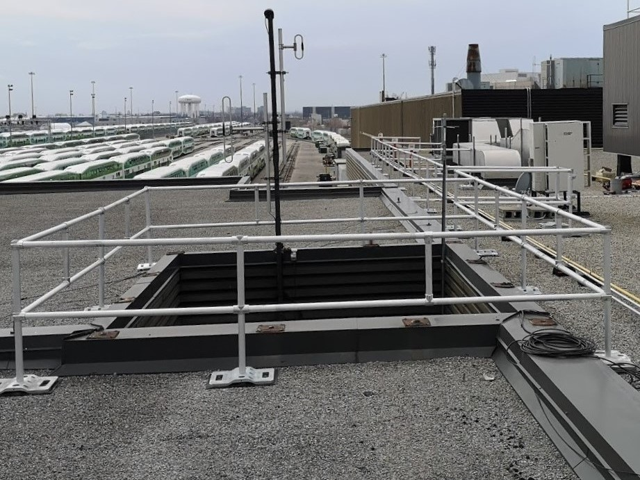 liftsafe on the roof at metrolinx