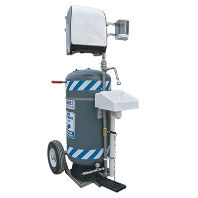 Image of hughes mobile self contained hand washing station