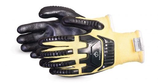 product image of dexterity 13-gauge impact-resistant glove with foam nitrile palms
