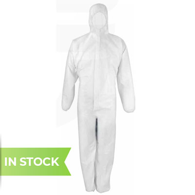Product image of disposable coverall with hood