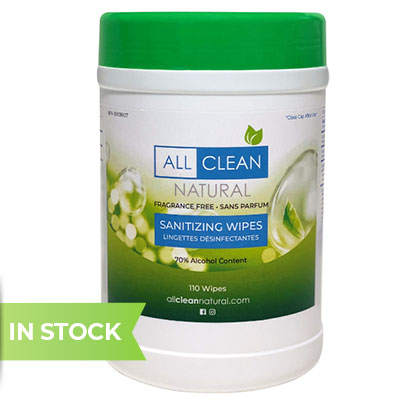 All clean natural sanitizing wipes, 110 count