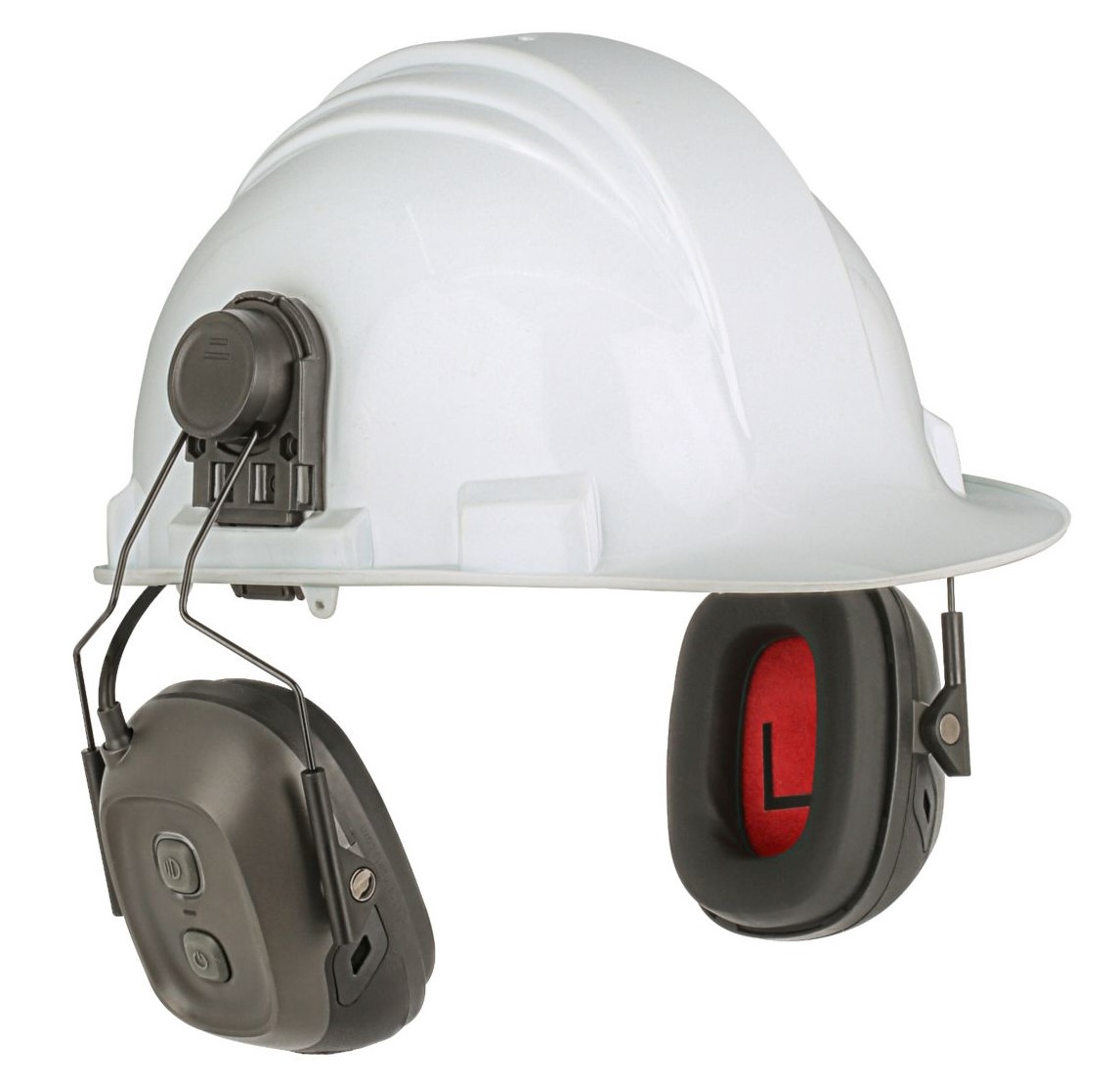 verishield smart hearing solution hard hat attached product image