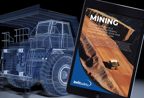 image of mining guide with mining truck in background
