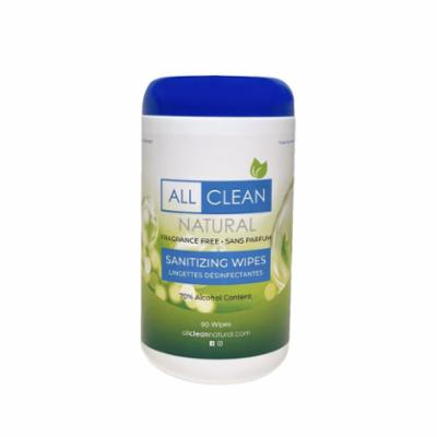All Clean Natural Sanitizing Wipes, 90 Count