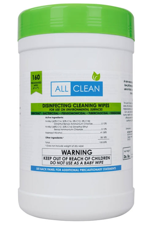 All Clean Disinfecting Cleaning Wipes, 160 Count