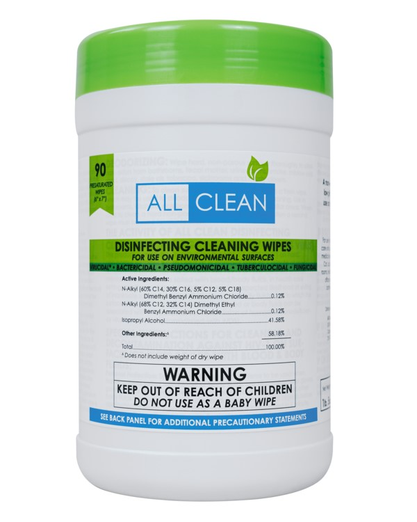 product image for all clean EPA-approved disinfecting wipes