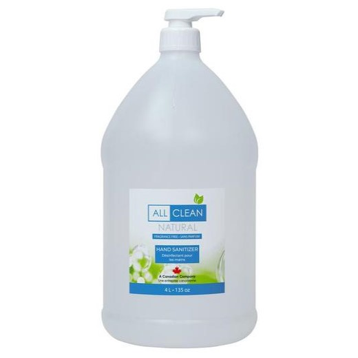 all clean liquid hand sanitizer product image