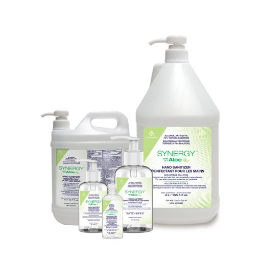 synergy brand hand sanitizer with aloe from Superior Glove