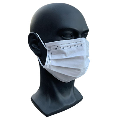 3-Ply Disposable Level 2 Medical Mask, White