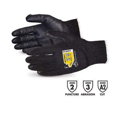 product photo of Superior Glove Dexterity 13-Gauge String-Knit Gloves With Foam Nitrile Palm Coating