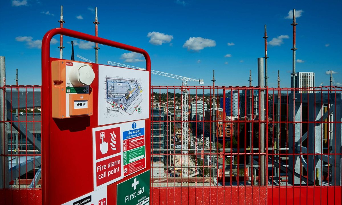 wes3 wireless fire alarm systems on construction sites