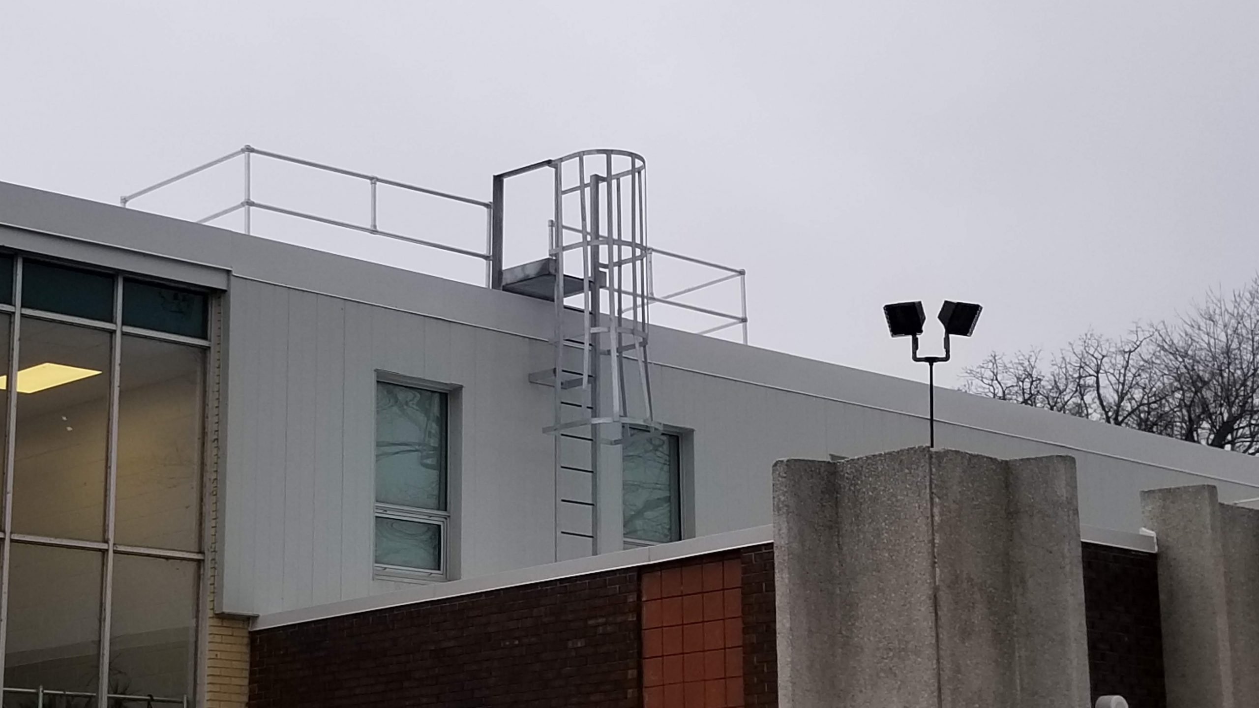 roofguard roof top ladder access point with fall protection